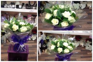 Flower delivery to homes work places and business in Darlington and the surrounding areas by Heavenly Scent Florists 33 Bondgate Darlington town center a dozen white roses delivered in darlington in w