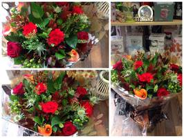 Flower delivery to homes work places and business in Darlington and the surrounding areas by Heavenly Scent Florists 33 Bondgate Darlington town center Seasonal hand tied bouquet autumnal bouquet