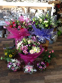 hand tied aqua packed bouquets delivered by Heavenly Scent Florist darlington