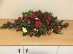 Double ended /single ended sprays carnations fresh flowers  fresh or artificial  floral teddy bear funeral tribute made lovingly by hand in our little shop with fresh flowers in 33 bondgate darlington local free deliver