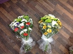 mixed colour  colour local and free delivery funeral flower tribute  cheap colourful traditional darlington and surrounding areas  hand made artificial funeral  florist darlington