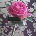 Pink rose w wedding flowers free local and surrounding areas delivery 33 bondgate darlington and for flower girl or bridesmaid