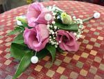 pink lizzy and pearl ladies corsage wedding flowers free local and surrounding areas delivery 33 bondgate darlington