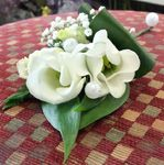 white lizzy and pearl ladies corsage wedding flowers free local and surrounding areas delivery 33 bondgate darlington