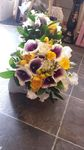 Vermeer calla lilly with lemon peonies and sweetpeas bridal wedding flowers free local and surrounding areas delivery 33 bondgate darlington  flowers.