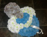 baby blue dummy baby boy funeral tribute darlington funeral tribute made lovingly by hand in our little shop with fresh flowers in 33 bondgate darlington local delivery