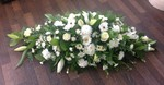 mixed rose and complementary flowers  fresh flowers  floral funeral casket  tribute Darlington designer flower arrangement  funeral sympathy tribute heavenly scent florist Darlington local free delivery same day cheap 33 bondgate darlington dl37jj