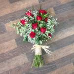red rose and gyp sheaf local and free delivery funeral flower tribute  cheap colourful traditional darlington and surrounding areas  hand made artificial funeral  florist darlington