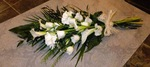 calla Lillie  sheaf local and free delivery funeral flower tribute  cheap colourful traditional darlington and surrounding areas  hand made artificial funeral  florist darlington