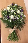 colorful sheaf white chrysanthemum  roses fresh flowers  floral funeral tribute Darlington designer floral tribute funeral sympathy tribute heavenly scent florist Darlington local free delivery same day cheap darlington florist