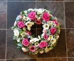 mixed wreath floral funeral tribute heavenly scent florist darlington fresh  funeral flowers local and surrounding areas