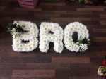 bro/gran/grandma/granny white chrysanthemum  roses fresh flowers  floral funeral tribute Darlington designer floral tribute funeral sympathy tribute heavenly scent florist Darlington local free delivery same day cheap