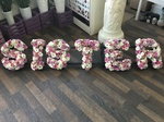 fresh or artificial  floral sister tribute  funeral tribute made lovingly by hand in our little shop with fresh flowers in 33 bondgate darlington local free delivery