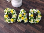 fresh or artificial  floral dad floral funeral tribute made lovingly by hand in our little shop with fresh flowers in 33 bondgate darlington local free delivery