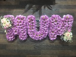fresh or artificial  floral mum floral funeral tribute made lovingly by hand in our little shop with fresh flowers in 33 bondgate darlington local free delivery