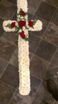 traditional cross red roses rose white cross floral funeral sympathy tribute heavenly scent florist darlington funeral tribute made lovingly by hand in our little shop with fresh flowers in 33 bondgate darlington local delivery