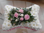 pillow  floral funeral tribute heavenly scent florist darlington