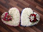 beautiful hearts with rose and lily courages