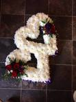 traditional joined open hearts  floral funeral tribute heavenly scent florist darlington