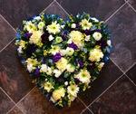 mixed heart floral funeral tribute heavenly scent florist darlington