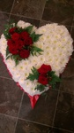 closed traditional  floral funeral tribute heavenly scent florist darlington