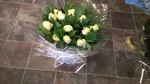 cream rose bouquet handtied  fresh flowers made by our florists in our family run business free local delivery and surrounding areas in darlington