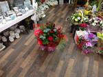 red mixed  bouquet hand tied  fresh flowers made by our florists in our family run business free local delivery and surrounding areas in darlington