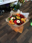 autumn colours bouquet hand tied  fresh flowers made by our florists in our family run business free local delivery and surrounding areas in darlington
