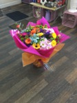 vibrant  bouquet hand tied  fresh flowers made by our florists in our family run business free local delivery and surrounding areas in darlington