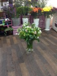 glass vase arrangement  bouquet hand tied  fresh flowers made by our florists in our family run business free local delivery and surrounding areas in darlington