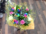 bouquet hand tied  aqua pack fresh flowers made by our florists in our family run business free local delivery and surrounding areas in darlington